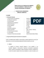 Silabo Derecho Comercial 1
