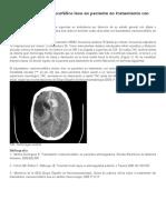 Traumatismo Craneoencefálico Leve en Paciente en Tratamiento Con Anticoagulante Oral