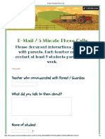 e-mail   5 minute phone calls