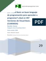 CU00303A Visual Basic Buen Lenguaje de Programación Aprender a Programar