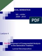 Lexical Semantics 4