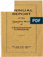 1932 Annual Report of Friendship Township