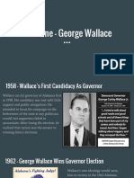 historical narrative - george wallace
