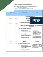 Programa Del Evento de Aifodeph
