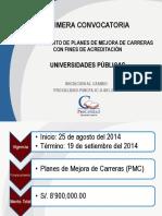 PPT Procalidad Convocatoria UNIVERSIDADES 22082014