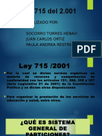 DIAPOSITIVAS ley 715 de 2.001