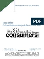 Profilul Consumatorului Roman, Mancare Si Produse Nealcoolice
