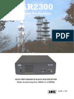AOR AR2300 Catalog Rev1