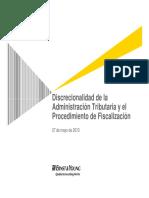 Discrecionalidad de La at y El Procedimiento de Fiscalizacion