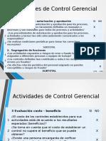 ACTIVIDADES DE CONTROL GERENCIAL