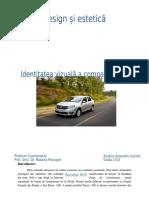 Identitatea Vizuala a Companiei Dacia