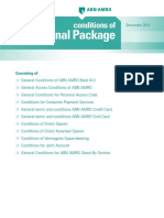 Personal Package Conditions for ABN