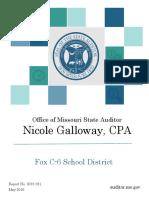 Audit of Fox C-6 School District