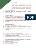 ESAB - Atividades do modulo de Gestão de Projeto