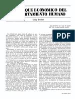 Becker El Enfoque Economico Del Comport a Mien to Humano