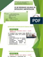 Manejo de Residuos Solidos de Exportacion e Importacion