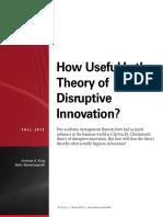 Disruiptive Innovation Useful
