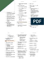 Formula Sheet Cfa 2015