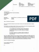 Décision de la Commission d'accès à l'information du Québec relative au lac Meech