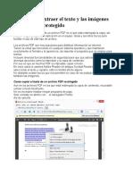 Trucos Para Extraer El Texto y Las Imágenes de Un PDF Protegido