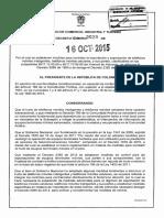 Decreto 2025 Del 16 de Octubre de 20152