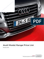 Audi Model Range Price List February