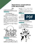 Juegos Deportivos Cooperativos Con Pelotona