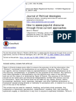 How to Assess Populist Discourse Through Three Current Approaches