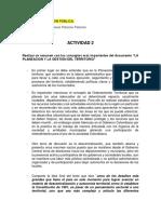 Diplomado en GESTIÓN PÚBLICA- Actividad 2