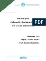 Material Para Diagnóstico de Matemática