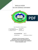 Maklah Msdm Retensi Dan Separasi Karyawan Minngu Ke-12