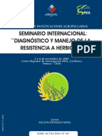 Resistencia herbicidas