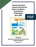 Inventario de Gases de Efecto Invernadero 2005 - Informe Narrativo