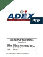 Plan de Seguridad Ante Emergencias y Contingencias Para Riesgos Naturales y Tecnológicos