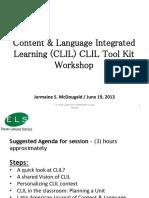 CLIL Tool Kit Workshop