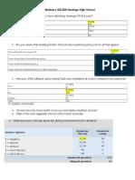 hastings hs parent survey