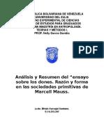 Ensayo Sobre Los Dones. Razón y Forma Del Cambio de Las Sociedades Primitivas.