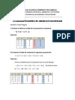 Problemas Resueltos de Álgebra Proposicional Ccesa007