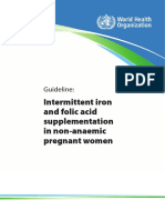 Guideline Intermittent Iron and Folic Acid Supplementation in Non-Anaemic Pregnant Women