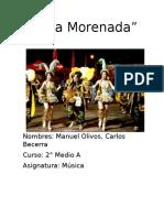 Informe Baile Morenada