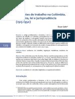 Acidentes de trabalho na Colômbia. Doutrina, lei e jurisprudência (1915-1950)