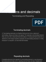 fractions and decimals math lesson repeating and terminating by ali hadi