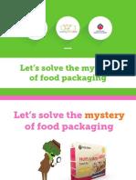 food packagaing information sheet