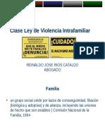Clase Sobre Ley de Violencia Intrafamiliar