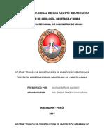 Informe Tecnico de Construcción de Galería 363 Sw – Manto Águila