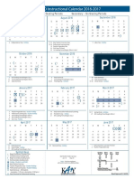 instructional calendar 2016-2017