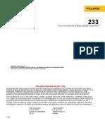 Manual FLUKE 233