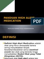 Panduan High Alert Medication