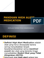 Panduan High Alert Medication