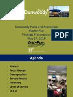 Dunwoody Parks Rec Survey Findings Presentation Public Final 5-24-16